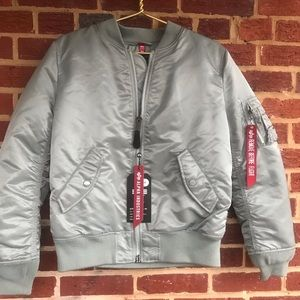 Alpha Industries NEW Womans M Laced Flight Jacket